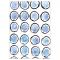 Blue Circles Art Print
