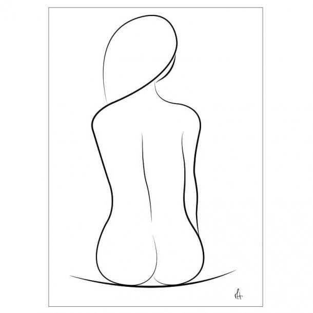 One Line Silhouette Art Print